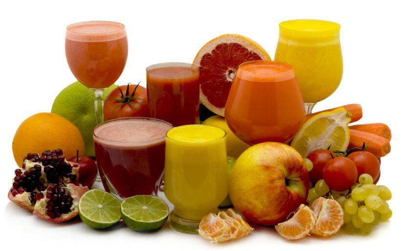 Свежевыжатые соки: польза и вред