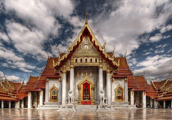 Мраморный храм в Бангкоке. Фото