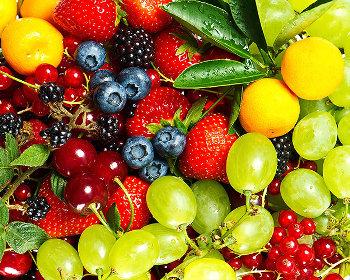 Полезные ягоды, фрукты и овощи